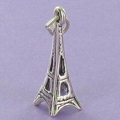 Eiffel Tower Charm Sterling Silver for Bracelet Vacation Paris France Tourist