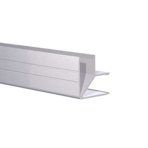 """Aluminum Double Edge Angle Fits 1/2"""" Material (6 Foot)"""