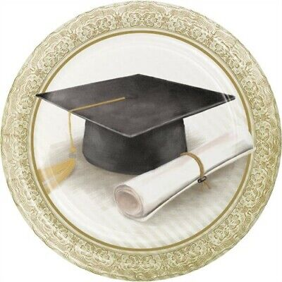 Classic Graduation 7 Inch Paper Plates 8 Pack Graduation Party Decoration](Graduation Plates)