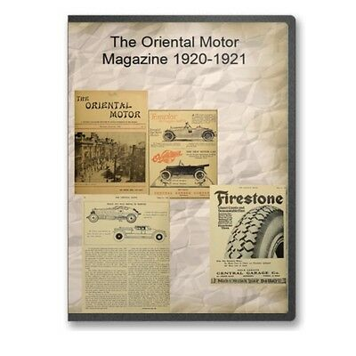 The Oriental Motor Magazine 1920 1921 on CD B543