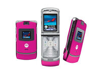 Unlocked Motorola V3 Pink Mobile Phone *All Networks*