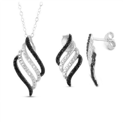 black and white diamond earrings ebay. Black Bedroom Furniture Sets. Home Design Ideas