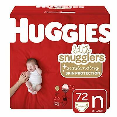 Huggies Little Snugglers Baby Diapers, Size (Newborn (72 Count)|NEW Big Pack)