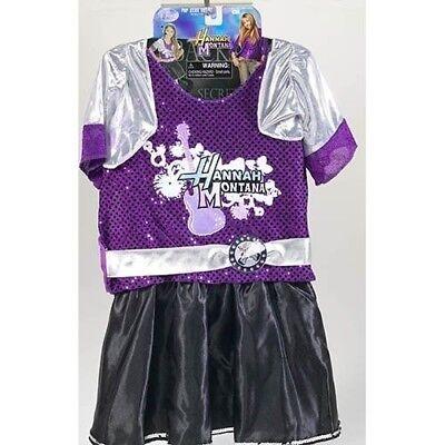 NEW HANNAH MONTANA Girls Costume Purple Dress Popstar Outfit Glittery 4 5 6 NWT