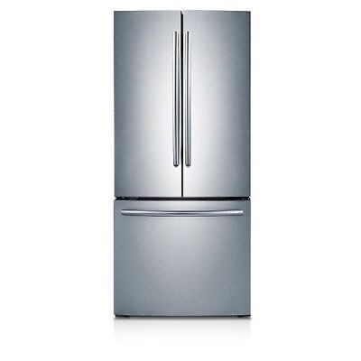 "Samsung RF220NCTASR 21.8CF 30"" Wide French Door Refrigerator Stainless Steel"