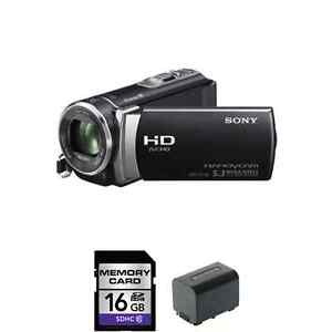 Sony-HDR-CX190-High-Definition-Camcorder-Black-w-Extra-Battery-16GB-Card