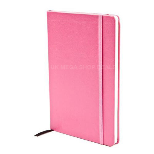 Silvine executive soft feel notebook A5 pink cover Office Paper ...