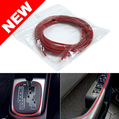 UNIVERSAL CAR INTERIOR / EXTERIOR RED MOLDING TRIM - 3 YARDS