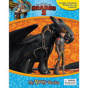 How to Train a Dragon 2 / storybook and figurines