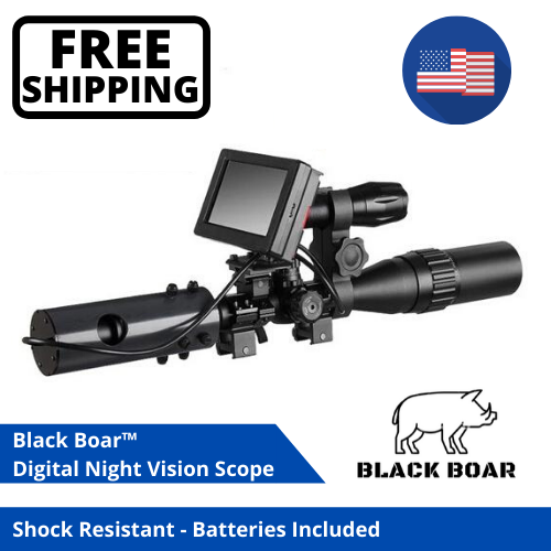Black Boar Night Vision Infrared Rifle Scope Hunting Sight 8