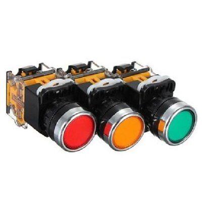 3 Pcsgreen Yellow Red Pushbutton Momentary Press Emergency Stop Switch Set Usa
