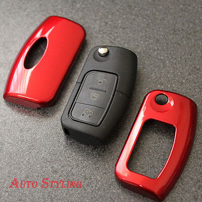Red Key Cover Case for Ford Remote Protector Flip Fob Hull 2 3 Button Bag 43fr