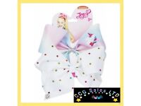 official jojo siwa 2 pack hair clip bows with charms
