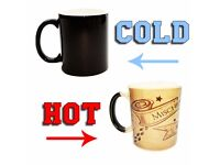 Harry Potter Marauder's Map Colour Changing Magic Black Heat Coffee Magic Mug