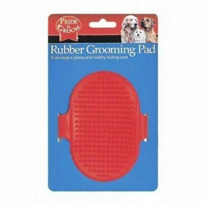 Rubber Dog Pet Grooming Coat DETANGLING BRUSH MASSAGE PAD Long & Short Hair