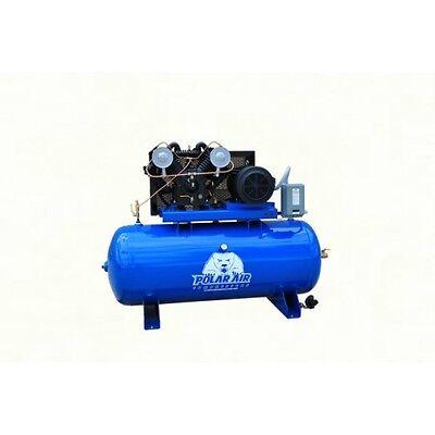 10 Hp V4 Single Phase 80 Gallon Horizontal Air Compressor By Eaton