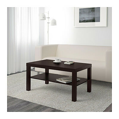 Coffee Table Lack Side End Black Brown TV Stand Laptop IKEA Living Bed Game Room