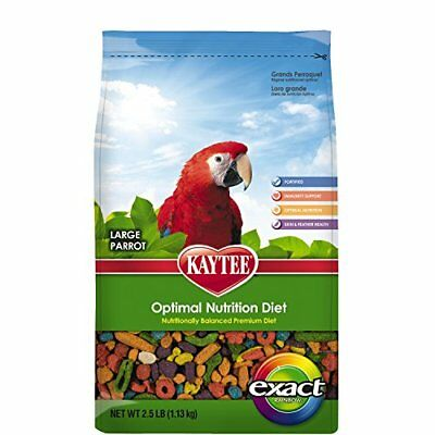 Kaytee Exact Rainbow Bird Food for Large Parrots, 2.5-Pound