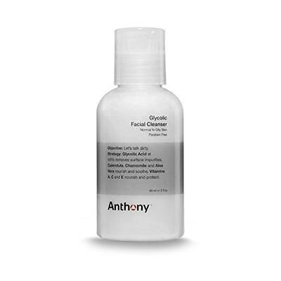 Anthony Logistics Glycolic Facial Cleanser - 2 oz/59 ml  New Sealed X2 U get (Anthony Glycolic Facial Cleanser)