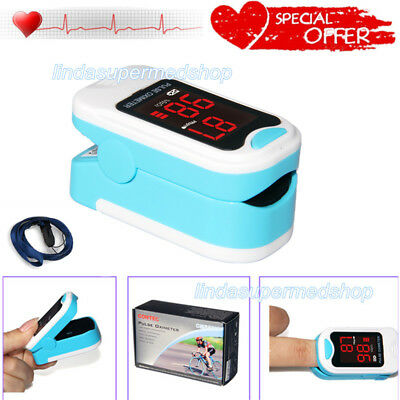 Usa Fingertip Pulse Oximeter Blood Oxygen Saturation Monitor Caselanyard Contec