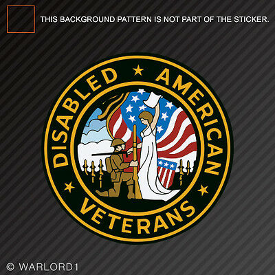 DAV American Disabled Veterans Seal Sticker army navy air force marines