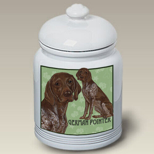 German Shorthaired Pointer Ceramic Treat Jar PS 52049