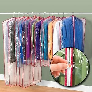Clear garment bags ebay for Clear plastic dress shirt bags