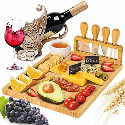 Charcuterie Boards Cheese Board and Knife Set Bamboo Charcuterie Board Set wi...