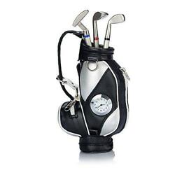 Seadream Golf Gift Set,Desktop Bag Pens Holder with Clock and 3