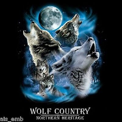 Wolf Country Heat Press Transfer For T Shirt Tote Sweatshirt Quilt Fabric 223a