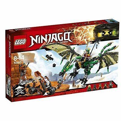 Lego Ninjago 70593 The Green NRG Dragon 100% Complete 5 Figs & instructions