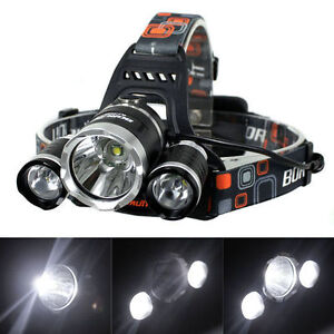 Boruit RJ-3000 LED headlamp/light hands free flashlight torch