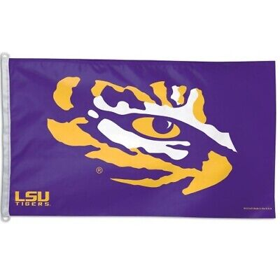 LSU Tigers 3x5 Flag Banner NCAA College Single Sided Sports Outdoor Fan Decor