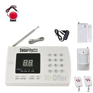 Antifurto casa senza fili con combinatore telefonico allarme wireless con sirena ebay - Antifurti casa senza fili ...