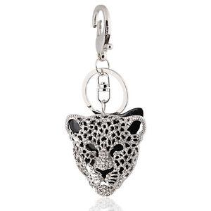 Handbag-Buckle-Charms-Accessories-Black-Leopard-Head-Keyrings-Key-Chains-HK27