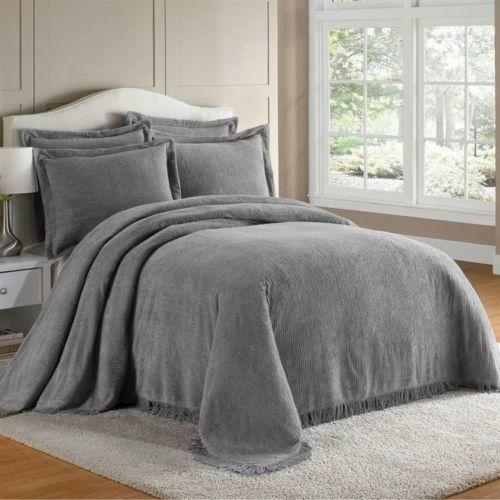 Gray Queen Bedspread Ebay