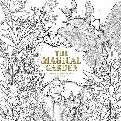 MALBUCH für ERWACHSENE ★ THE MAGICAL GARDEN ★ Zen Relaxing Art Therapy