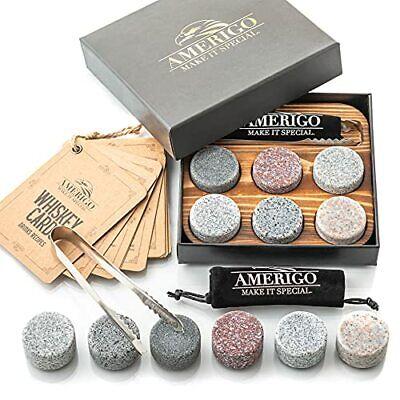 Amerigo Gifts for Men Dad Christmas Stocking Stuffers Whiskey Stones Unique B...