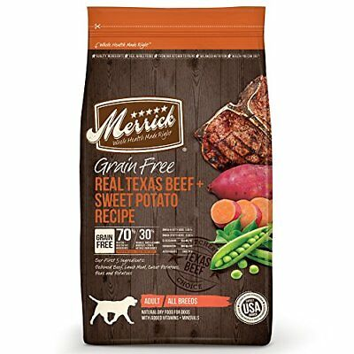 Merrick Grain Free Real Texas Beef & Sweet Potato Dry Dog Food 4 lbs.