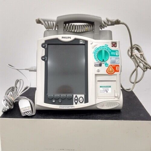 Philips Heartstart MRX Defibrillator w/ Paddles / ECG Cable (New battery) M3535A