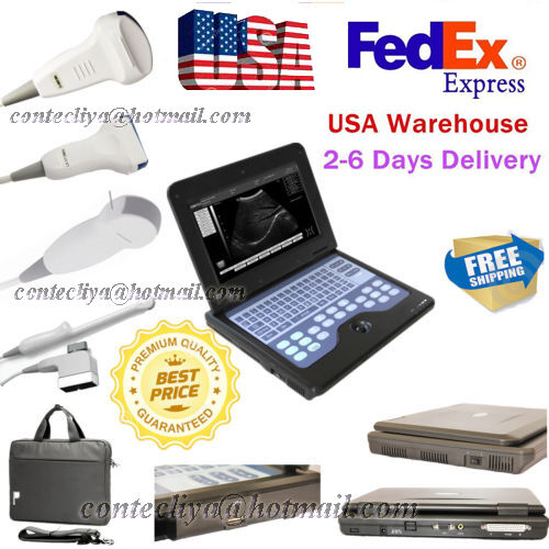 Us Sale Portable Diagnostic Ultrasound Machine System Cms600p2 + 3 Scanner Probe