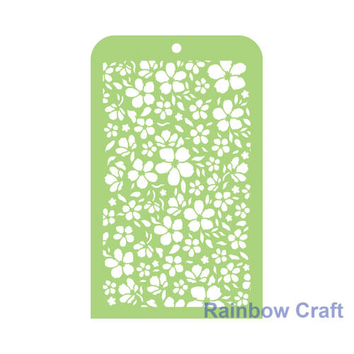 Kaisercraft Mini Designer Templates Stencils Blossom Christmas Holly Leaves - Blossom