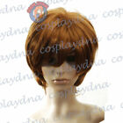 Cosplay Dark Brown Unisex Wigs & Hairpieces