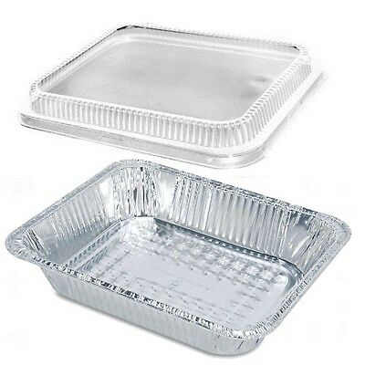 12 Half-size Aluminum Foil Steam Table Pan 2 916 Deep Wclear Dome Lid 20pk