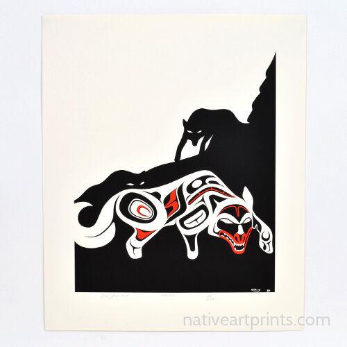 Haida Don Yeomans Rare Wolves Limited Edition Serigraph