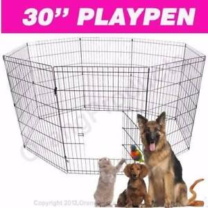 "Brand New 30"" 8 PANEL PET PLAYPEN EXERCISE CAGE FENCE ENCLOSURE"