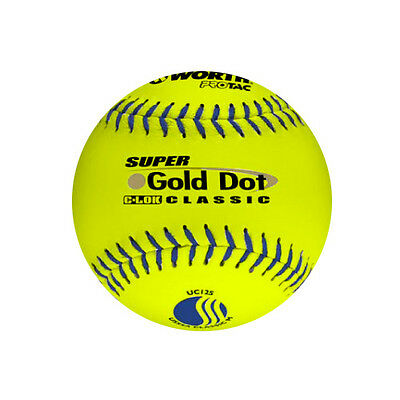 Worth™ Super Gold Dot Classic 12 in. Slow-Pitch Softballs (12 (Dot Slow Pitch Softballs)