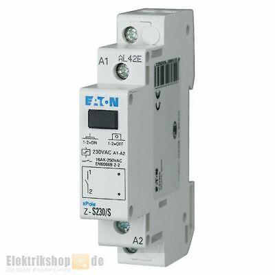 Stromstoßschalter 230V AC 16A 1S Z-S230/S Moeller Eaton für die Hutschiene