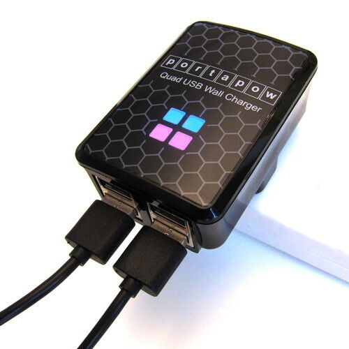PortaPow 2.5A Quad USB Wall Charger