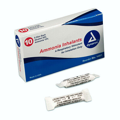 Ammonia Inhalants Capsules 33cc 50pack For Emt First Aid. Smelling Salt New